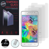Samsung Galaxy Grand Prime SM-G530F/ (4G) SM-G531F/ Duos TV SM-G530BT/ G530FZ G530Y G530H G530FZ/DS: Lot / Pack de 3 Films de protection d'écran Verre Trempé