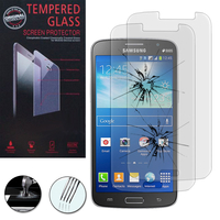 Samsung Galaxy Grand 2 SM-G7100 SM-G7102 SM-G7105 SM-G7106: Lot / Pack de 2 Films de protection d'écran Verre Trempé