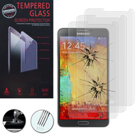 Samsung Galaxy Note 3 N9000/ N9002/ N9005/ N9006: Lot / Pack de 3 Films de protection d'écran Verre Trempé