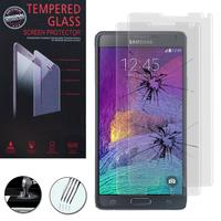 Samsung Galaxy Note 4 SM-N910F/ Note 4 Duos (Dual SIM) N9100/ Note 4 (CDMA)/ N910C N910W8 N910V N910A N910T N910M: Lot / Pack de 2 Films de protection d'écran Verre Trempé