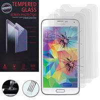 Samsung Galaxy S5 V G900F G900IKSMATW LTE G901F/ Duos / S5 Plus/ S5 Neo SM-G903F/ S5 LTE-A G906S: Lot / Pack de 3 Films de protection d'écran Verre Trempé