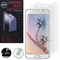 Samsung Galaxy S6 SM-G920/ S6 Duos/ S6 (CDMA)/ G920F G9200 G9208/SS G920A G920T G920S G920V G920W8: Lot / Pack de 2 Films de protection d'écran Verre Trempé