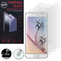 Samsung Galaxy S6 SM-G920/ S6 Duos/ S6 (CDMA)/ G920F G9200 G9208/SS G920A G920T G920S G920V G920W8: Lot / Pack de 3 Films de protection d'écran Verre Trempé