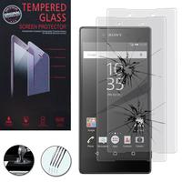Sony Xperia Z5 E6603 E6653/ Z5 Dual E6633 E6683: Lot / Pack de 2 Films de protection d'écran Verre Trempé