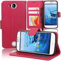 Acer Liquid Jade S S56: Accessoire Etui portefeuille Livre Housse Coque Pochette support vidéo cuir PU - ROSE