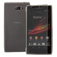 Sony Xperia M2/ M2 Dual D2303 D2305 D2306: Accessoire Coque Etui Housse Pochette silicone gel Portefeuille Livre rabat - TRANSPARENT