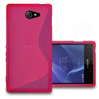 Sony Xperia M2/ M2 Dual D2303 D2305 D2306: Accessoire Housse Etui Pochette Coque S silicone gel - ROSE
