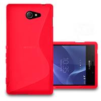 Sony Xperia M2/ M2 Dual D2303 D2305 D2306: Accessoire Housse Etui Pochette Coque S silicone gel - ROUGE