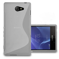 Sony Xperia M2/ M2 Dual D2303 D2305 D2306: Accessoire Housse Etui Pochette Coque S silicone gel - TRANSPARENT