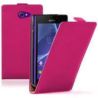 Sony Xperia M2/ M2 Dual D2303 D2305 D2306: Accessoire Housse coque etui cuir fine slim - ROSE