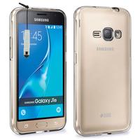 Samsung Galaxy J1 (2016)/ Duos/ J120F J120H J120M J120M J120T: Accessoire Housse Etui Coque gel UltraSlim et Ajustement parfait + mini Stylet - TRANSPARENT