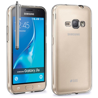 Samsung Galaxy J1 (2016)/ Duos/ J120F J120H J120M J120M J120T: Accessoire Housse Etui Coque gel UltraSlim et Ajustement parfait + Stylet - TRANSPARENT