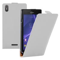 Sony Xperia T3 D5103 D5102 D5106: Accessoire Housse coque etui cuir fine slim - BLANC
