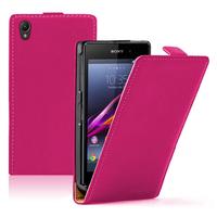 Sony Xperia Z1 L39H/ Z1 Honami/ C6902 C6903 C6906 C6943: Accessoire Housse coque etui cuir fine slim - ROSE