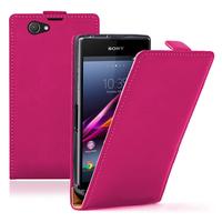 Sony Xperia Z1 Compact D5503: Accessoire Housse coque etui cuir fine slim - ROSE