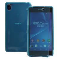 Sony Xperia Z2 D6502 D6503 D6543: Accessoire Coque Etui Housse Pochette silicone gel Portefeuille Livre rabat - BLEU
