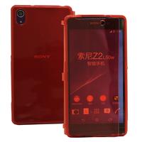 Sony Xperia Z2 D6502 D6503 D6543: Accessoire Coque Etui Housse Pochette silicone gel Portefeuille Livre rabat - ROUGE