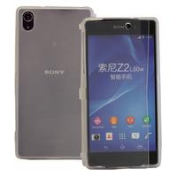 Sony Xperia Z2 D6502 D6503 D6543: Accessoire Coque Etui Housse Pochette silicone gel Portefeuille Livre rabat - TRANSPARENT