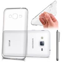 Samsung Galaxy J3 Pro: Accessoire Housse Etui Coque gel UltraSlim et Ajustement parfait + Stylet - TRANSPARENT