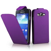 Samsung Galaxy Core I8260/ I8262 Dual Sim: Accessoire Etui Housse Coque Pochette simili cuir à rabat vertical - VIOLET
