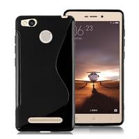 Xiaomi Redmi 3s/ Redmi 3x/ Redmi 3 Pro: Accessoire Housse Etui Pochette Coque Silicone Gel motif S Line - NOIR