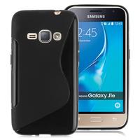 Samsung Galaxy J1 (2016)/ Duos/ J120F J120H J120M J120M J120T: Accessoire Housse Etui Pochette Coque Silicone Gel motif S Line - NOIR