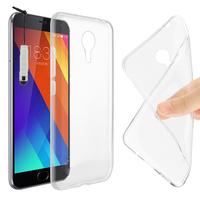 Meizu MX5: Accessoire Housse Etui Coque gel UltraSlim et Ajustement parfait + mini Stylet - TRANSPARENT