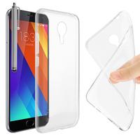 Meizu MX5: Accessoire Housse Etui Coque gel UltraSlim et Ajustement parfait + Stylet - TRANSPARENT