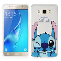 Samsung Galaxy J5 (2016) J510FN/ J510F/ J510G/ J510Y/ J510M/ J5 Duos (2016): Coque Housse silicone TPU Transparente Ultra-Fine Dessin animé jolie - Stitch