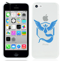 Apple iPhone 5C: Coque Housse silicone TPU Transparente Ultra-Fine Dessin animé jolie + mini Stylet - Team Mystic