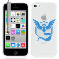 Apple iPhone 5C: Coque Housse silicone TPU Transparente Ultra-Fine Dessin animé jolie + Stylet - Team Mystic