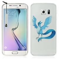 Samsung Galaxy S6 edge SM-G925/ S6 edge (CDMA)/ G925F/ G925T/ G9250/ G925A/ G925FQ/ G925L/ G925P/ G925R: Coque Housse silicone TPU Transparente Ultra-Fine Dessin animé jolie + mini Stylet - Articuno