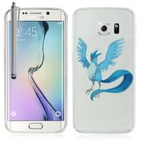Samsung Galaxy S6 edge SM-G925/ S6 edge (CDMA)/ G925F/ G925T/ G9250/ G925A/ G925FQ/ G925L/ G925P/ G925R: Coque Housse silicone TPU Transparente Ultra-Fine Dessin animé jolie + Stylet - Articuno