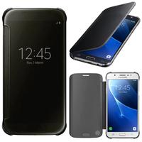Samsung Galaxy J7 (2016) J710F/ Duos/ J710FN/ J710M/ J710H: Coque Silicone gel rigide Livre rabat - NOIR