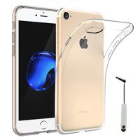"""Apple iPhone 7 4.7"""" (non compatible iPhone 7 Plus 5.5''): Accessoire Housse Etui Coque gel UltraSlim et Ajustement parfait + mini Stylet - TRANSPARENT"""