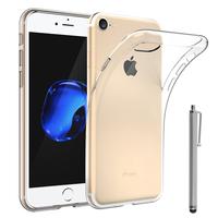 """Apple iPhone 7 4.7"""" (non compatible iPhone 7 Plus 5.5''): Accessoire Housse Etui Coque gel UltraSlim et Ajustement parfait + Stylet - TRANSPARENT"""