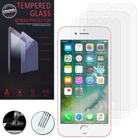 """Apple iPhone 7 4.7"""" (non compatible iPhone 7 Plus 5.5''): Lot / Pack de 3 Films de protection d'écran Verre Trempé"""