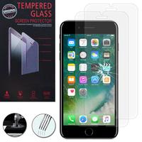 """Apple iPhone 7 Plus 5.5"""" (non compatible iPhone 7 4.7''): Lot / Pack de 2 Films de protection d'écran Verre Trempé"""