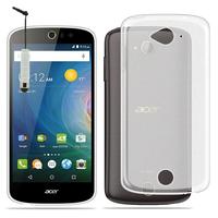 Acer Liquid Z530/ Z530S: Housse Coque TPU Silicone Gel Souple Translucide Ultra Fine + mini Stylet - TRANSPARENT