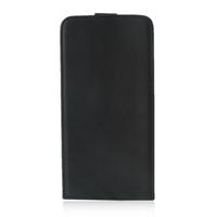 Lenovo ZUK Z1: Accessoire Housse Coque Pochette Etui protection vrai cuir à rabat vertical - NOIR