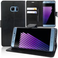 Samsung Galaxy Note7 N930F/ Note 7 Duos/ Note7 (USA) N930: Accessoire Etui portefeuille Livre Housse Coque Pochette support vidéo cuir PU - NOIR