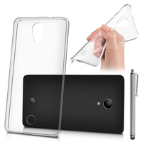 Wiko Tommy: Housse Coque TPU Silicone Gel Souple Translucide Ultra Fine + Stylet - TRANSPARENT