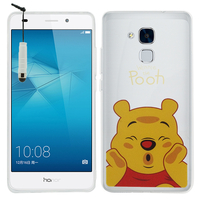 Huawei Honor 5c/ Honor 7 Lite/ Huawei GT3: Coque Housse silicone TPU Transparente Ultra-Fine Dessin animé jolie + mini Stylet - Winnie the Pooh