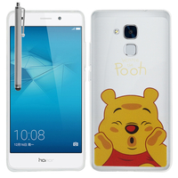 Huawei Honor 5c/ Honor 7 Lite/ Huawei GT3: Coque Housse silicone TPU Transparente Ultra-Fine Dessin animé jolie + Stylet - Winnie the Pooh