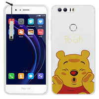 "Huawei Honor 8 5.2"" (non compatible Honor V8): Coque Housse silicone TPU Transparente Ultra-Fine Dessin animé jolie + mini Stylet - Winnie the Pooh"