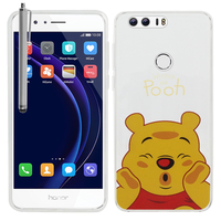 "Huawei Honor 8 5.2"" (non compatible Honor V8): Coque Housse silicone TPU Transparente Ultra-Fine Dessin animé jolie + Stylet - Winnie the Pooh"
