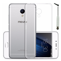 Meizu M3s/ M3 S: Accessoire Housse Etui Coque gel UltraSlim et Ajustement parfait + mini Stylet - TRANSPARENT