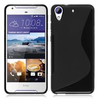HTC Desire 628/ 628 dual sim: Accessoire Housse Etui Pochette Coque Silicone Gel motif S Line - NOIR