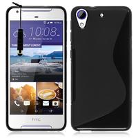 HTC Desire 628/ 628 dual sim: Accessoire Housse Etui Pochette Coque Silicone Gel motif S Line + mini Stylet - NOIR