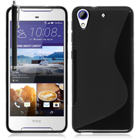 HTC Desire 628/ 628 dual sim: Accessoire Housse Etui Pochette Coque Silicone Gel motif S Line + Stylet - NOIR